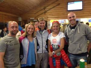 This was as closest most of us got to Emilie Forsberg at the Glencoe Skyrace - a remarkable athlete with a big smile!